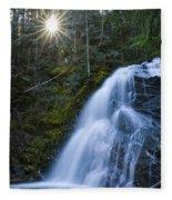 Snow Creek Falls Fleece Blanket