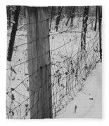 Snow Fence Fleece Blanket