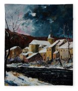 Snow In Chassepierre Fleece Blanket