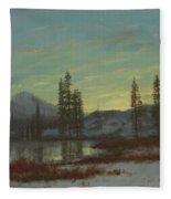 Snow In The Rockies Fleece Blanket