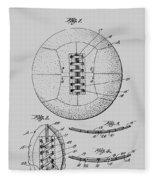 Soccer Ball Patent  1928 Fleece Blanket