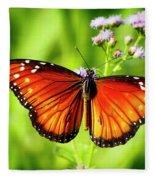Soldier Butterfly Fleece Blanket