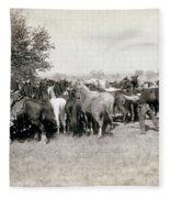 South Dakota: Cowboys Fleece Blanket