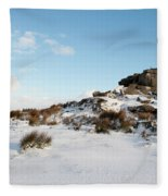 South Hessary Tor In The Snow II Fleece Blanket