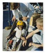 Space: Chimpanzee, 1961 Fleece Blanket