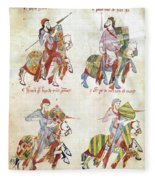 Spain: Knights, C1350 Fleece Blanket