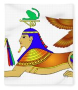 Sphinx - Mythical Creatures Of Ancient Egypt Fleece Blanket