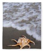 Spider Conch Shell Fleece Blanket