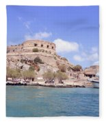 Spinalonga Greece Fleece Blanket