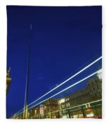 Spire Of Dublin, Oconnell Street Fleece Blanket