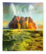 Spitting-fly Geyser In Nevada Fleece Blanket