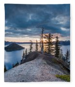 Spring Morning At Discovery Point Fleece Blanket