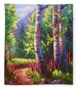 Spring Path Fleece Blanket