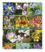 Spring Wildflowers II Fleece Blanket