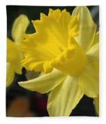 Spring Yellow Fleece Blanket