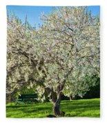Springtime Blossoms Fleece Blanket