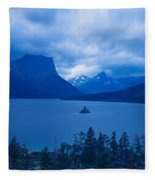 St. Mary Lake, Glacier National Park Fleece Blanket