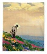 St. Panteleimon The Healer Fleece Blanket