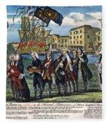 Stamp Act: Repeal, 1766 Fleece Blanket