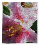 Stargazer Lily  Fleece Blanket