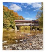 State Road Covered Bridge Fleece Blanket