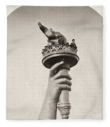 Statue Of Liberty, 1876 Fleece Blanket