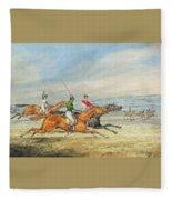 Steeplechasing Henry Thomas Alken Fleece Blanket