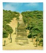 Steps To The Beach Fleece Blanket