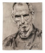 Steve Jobs Fleece Blanket