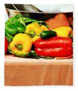 Still Life - Vegetables Fleece Blanket