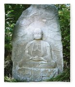 Stone Buddha  Fleece Blanket