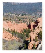 Stone Quarry At Red Rock Canyon Open Space Park Fleece Blanket
