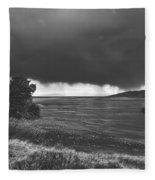 Storm Brewing Over The Mud Flats Fleece Blanket