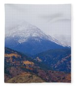 Storm Clouds On Pikes Peak Fleece Blanket