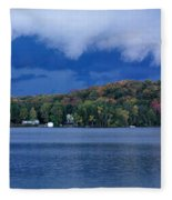 Storm Clouds Over The Lake Of Bays Fleece Blanket