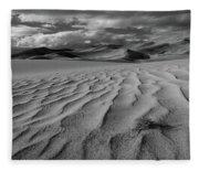 Storm Over Sand Dunes Fleece Blanket