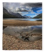 Storms Over Upper Waterton Lake Fleece Blanket