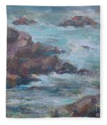 Stormy Sea Seascape Fleece Blanket