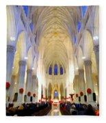 St.patricks Cathedral Restored Fleece Blanket