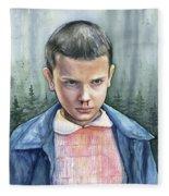 Stranger Things Eleven Portrait Fleece Blanket