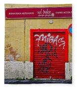 Street Art In Palma Majorca Spain Fleece Blanket