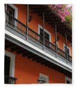 Streets Of Old San Juan Fleece Blanket