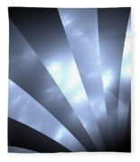 Stripes And Sky Fleece Blanket