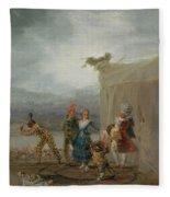 Strolling Players Fleece Blanket