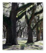 Strong Trees In The South Fleece Blanket
