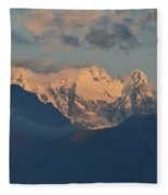 Stunning Countryside Of Northern Italy With The Alps  Fleece Blanket