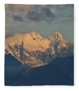 Stunning Landscape In The Italian Alps With A Cloudy Sky  Fleece Blanket
