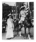 Suffragettes, 1913 Fleece Blanket