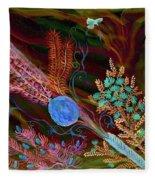 Sukkot-the Lulav Fleece Blanket