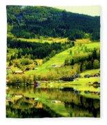 Summer In Norway Fleece Blanket